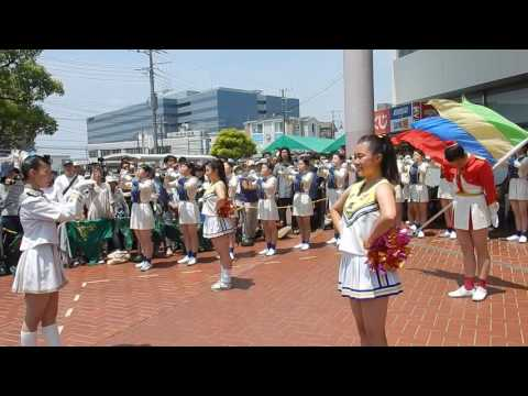 鎌倉女子大学中・高等部マーチングバンド部の模様 1 大船まつり2016