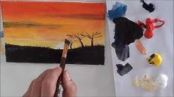 10-Minuten-Malerei: Afrika für Anfänger (Acryl)