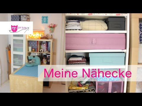 Meine Nähecke / Roomtour Teil 2 - DIY Eule