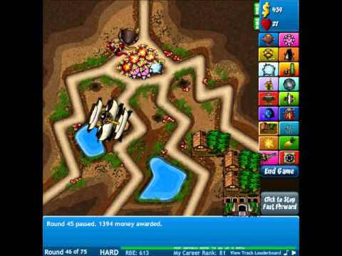 Bloons Tower Defense 4 Track 9, Anthill, Hard Walkthrough