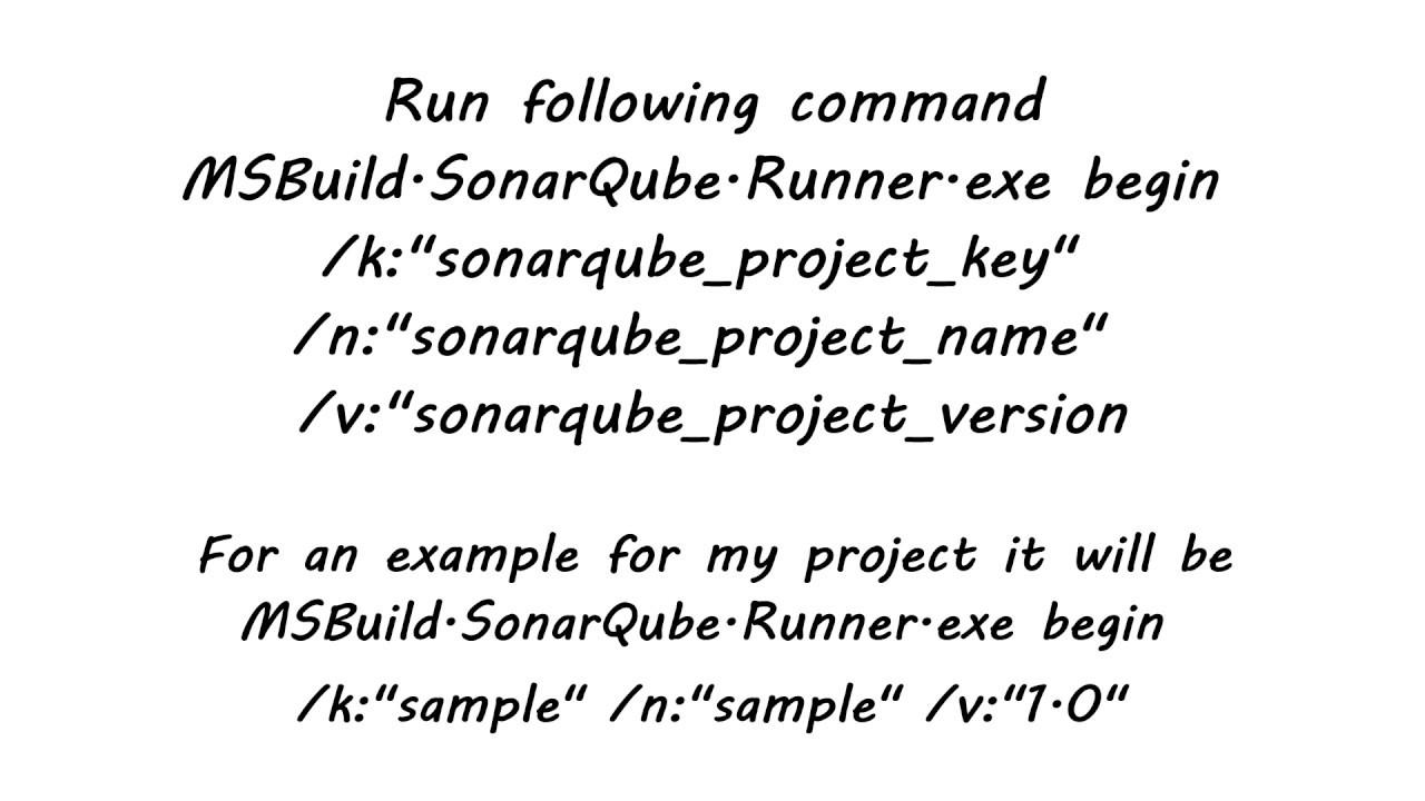 How to analyze  NET/C# project in SonarQube