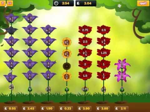 Ordering fractions game | Mathematics at Mangahigh.com - YouTube