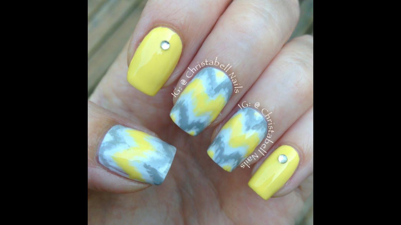Christabellnails Blended Chevron Nails Tutorial Youtube