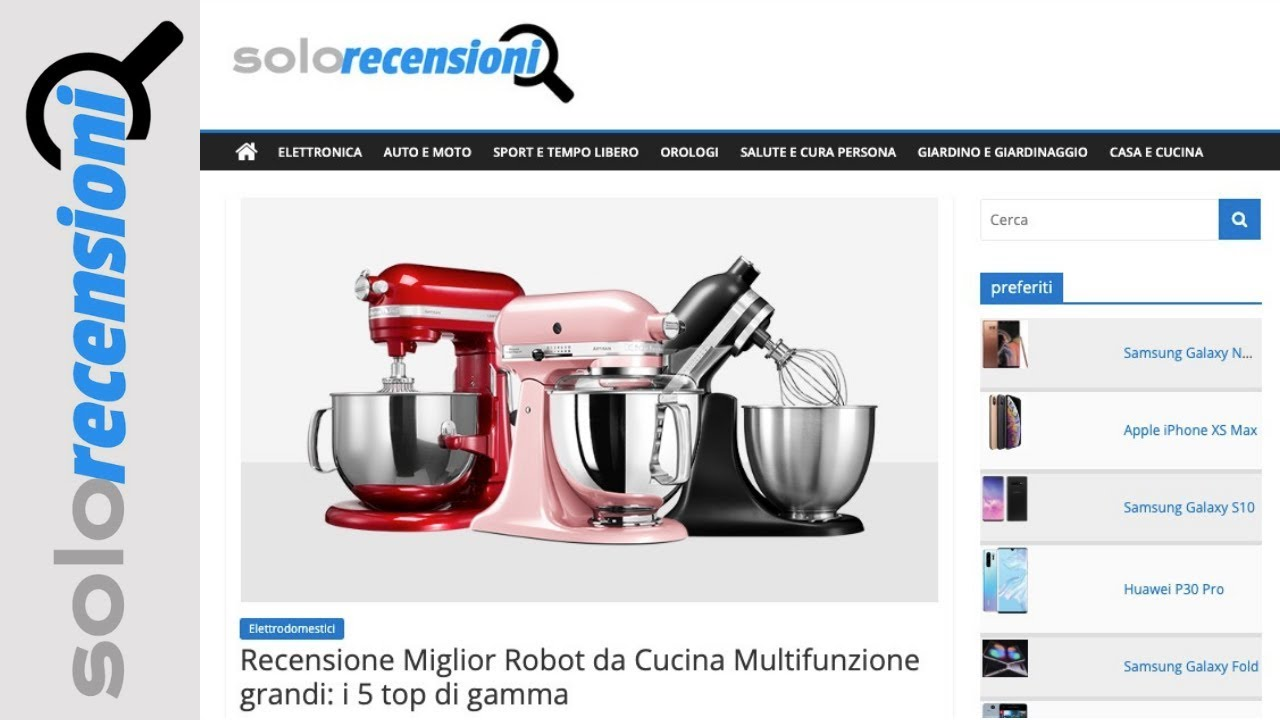 Recensione Miglior Robot da Cucina Multifunzione grandi i 5 top di gamma