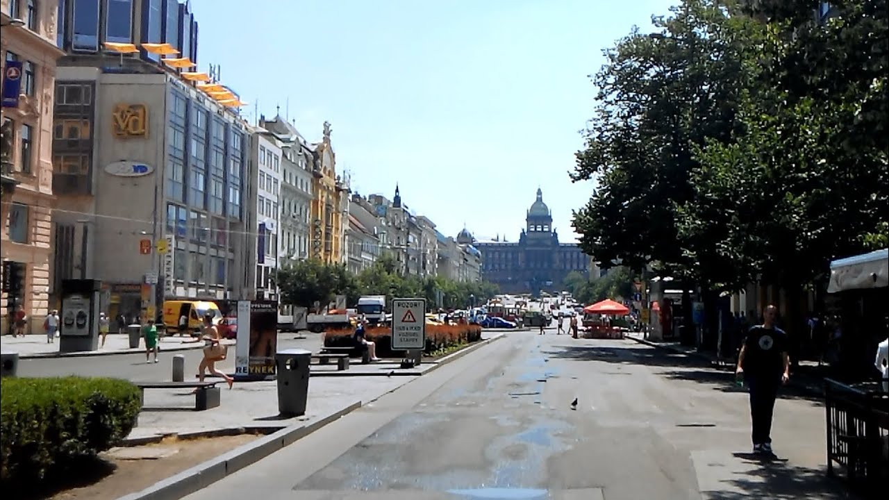 Prague wenceslas square youtube for Prague square