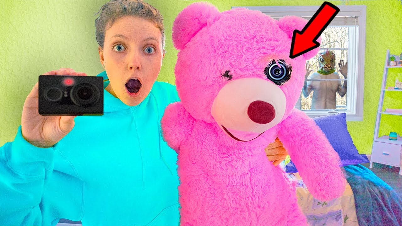 Found Secret Hidden Camera in My Teddy Bear!! (Caught Pond Monster Evidence on Camera, Face Reveal)