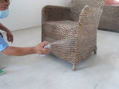 How To Fix And Repair Mold Water Hyacinth Furniture