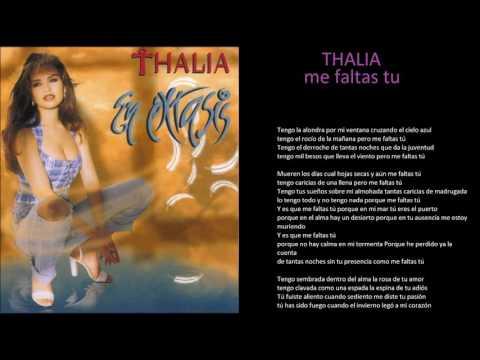 thalia me faltas tu + lyrics
