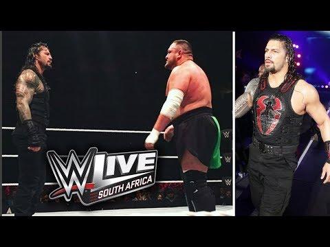Roman Reigns Vs Samoa Joe Match WWE Live Event South Africa 19th April 2018
