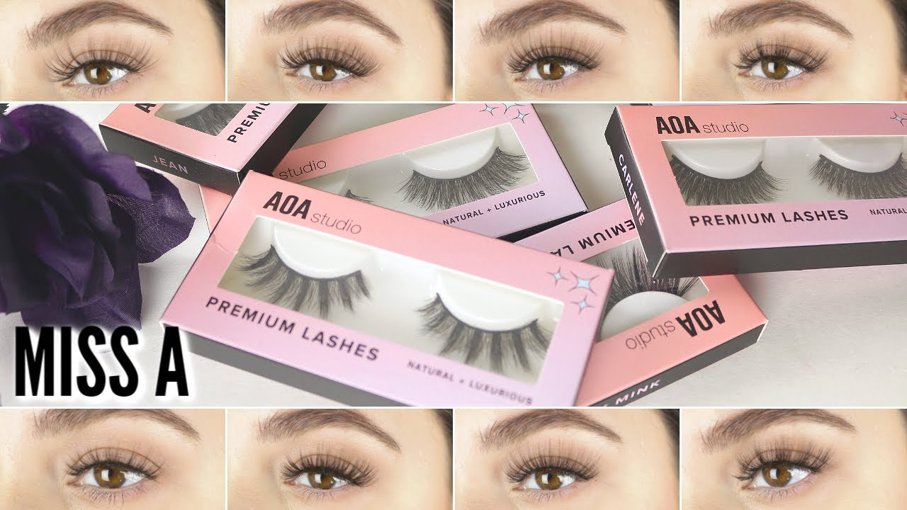 f38889d9c1f AOA STUDIO FAUX MINK LASHES REVIEW & TRY ON!! - YouTube