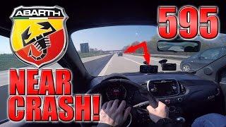 Near Accident! 2017 Abarth 595 Competizione (0-230 km/h) POV- Acceleration, Top speed TEST✔