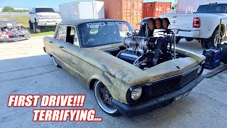 Our First Time Driving WAR BIRD!!! This Thing is INSANE!! (1,700hp Australian Burnout Car)