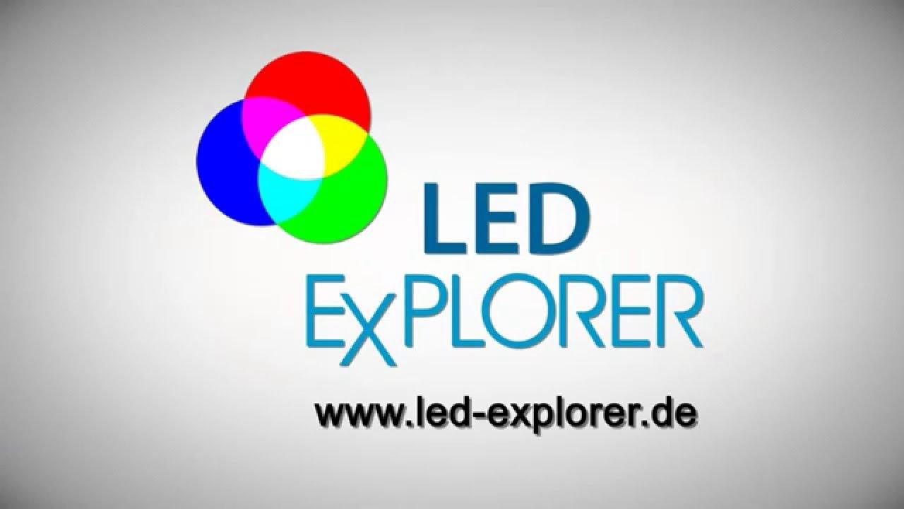 led shopbeleuchtung 3 phasen strahler led b rolampen led explorer youtube. Black Bedroom Furniture Sets. Home Design Ideas