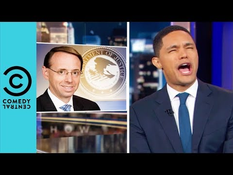 Has Rosenstein Been Fired By Trump? | The Daily Show With Trevor Noah