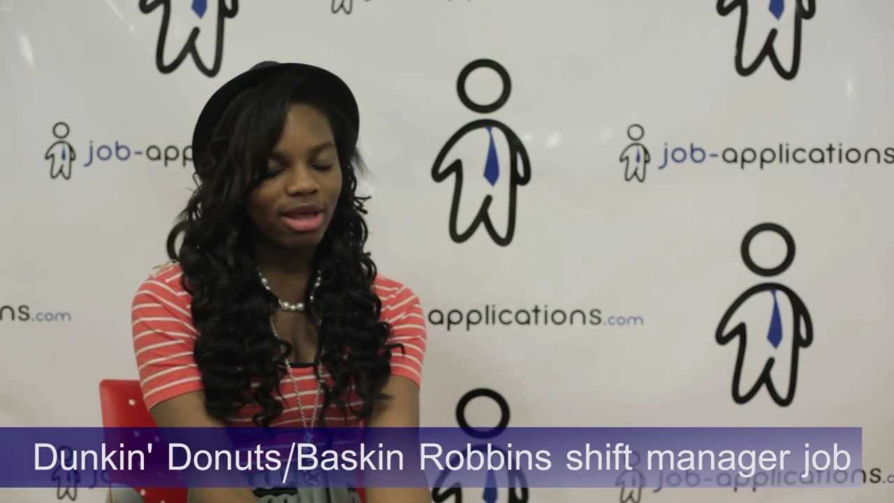 Dunkin Donuts Interview Shift Leader 2 Youtube