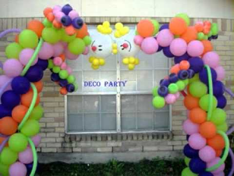 Diy birthday party decoration ideas for kids youtube for Balloon decoration ideas youtube