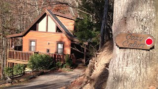 Review/Virtual Tour of the Cozy Cabin by Cabins For You in Gatlinburg TN