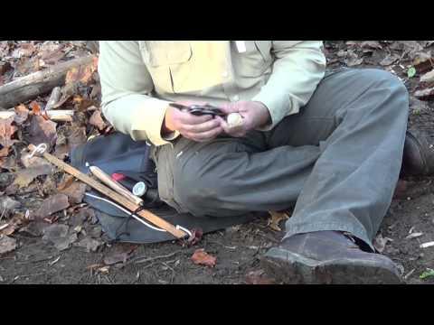 Primitve Fire Using Bearing Block & Walking Stick