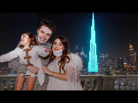 OUR OFFICIAL GENDER REVEAL (on tallest building in the WORLD) 💙💖