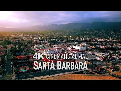 SANTA BARBARA CA California Drone 4K USA