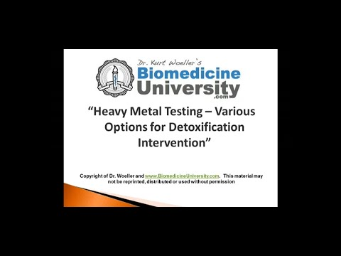 Heavy Metal Testing   Various Options for Detoxification Intervention