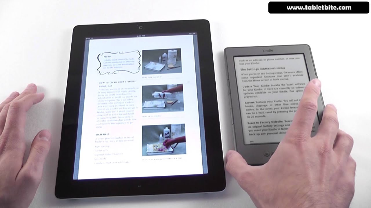 Apple Ipad Vs Kindle: Kindle 4 Vs IPad 2 Comparison
