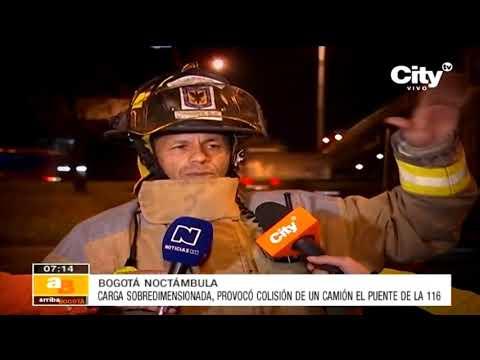 Camión se estrella contra un puente en el norte de Bogotá | CityTv