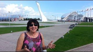 Олимпийский парк. Стелла олимпийского огня и музыкальный фонтан.