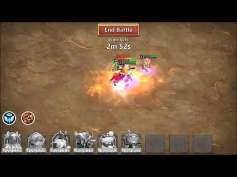 Castle Clash Boss Fight WIth Zerk PD