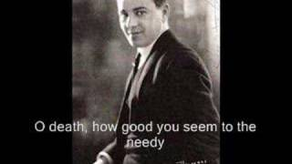 Brahms - O Tod, wie bitter bist du - A Kipnis