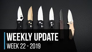 Weekly Update 22 - 2019:  Spyderco Endela, Protech TR 20th Anniversary Autos & more!