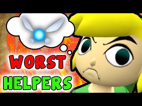 Top 5 Most ANNOYING/WORST Zelda Companions/Helpers (Legend Of Zelda Series)