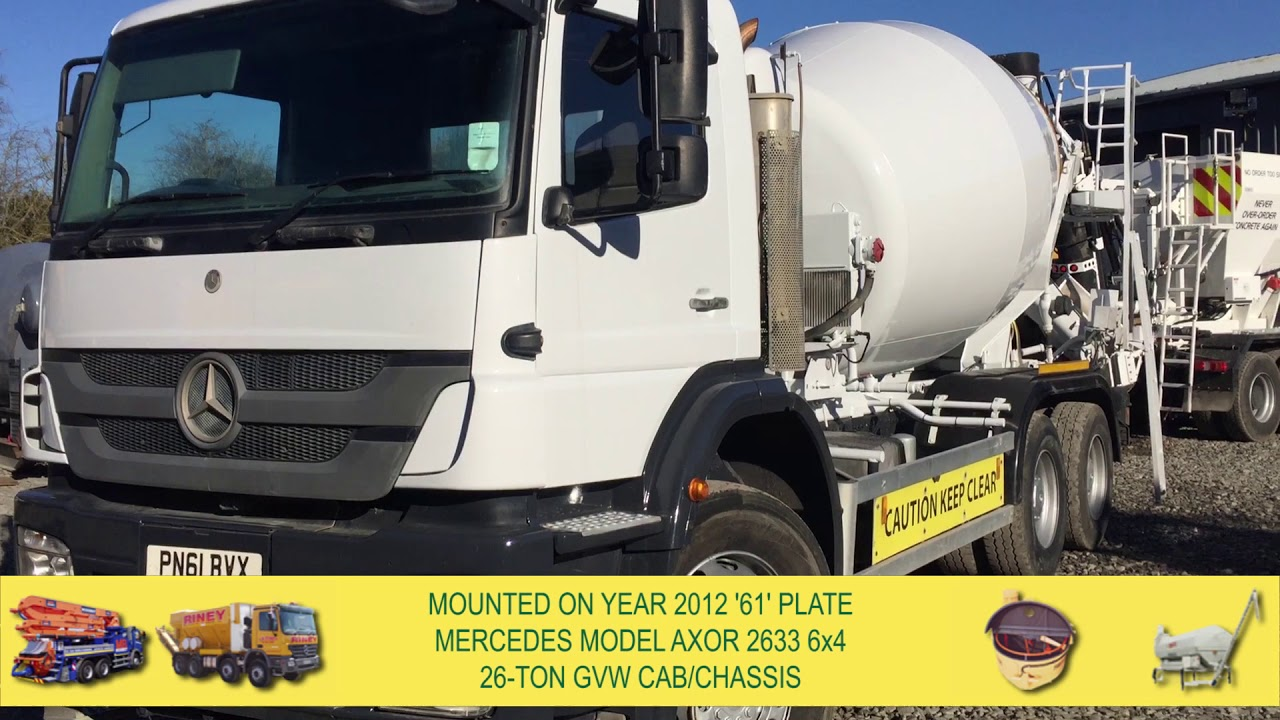 2 off Used MERCEDES / SCHWING-STETTER Model AM7 FHC BL 6/7m³ Standard  Transit Concrete Mixers (2012)