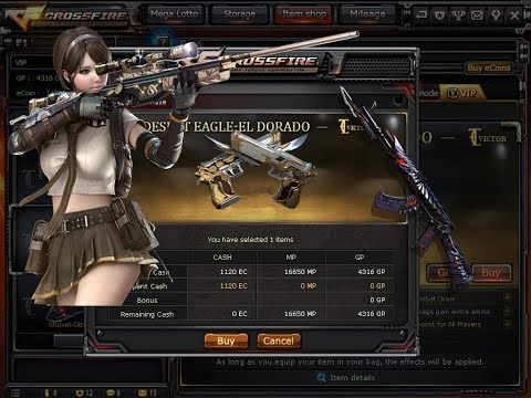 My 3rd VIP Desert Eagle El Dorado Sale 1120 Ecoin Gamex Crossfire Philippines