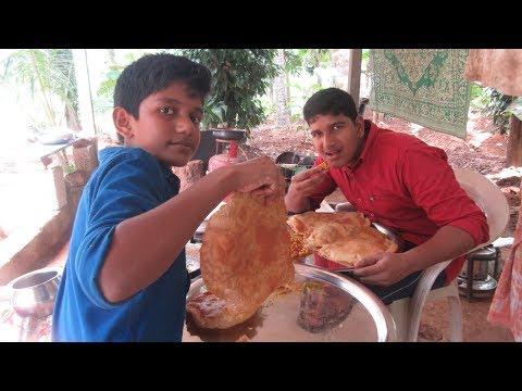 Village food factory /BIG Poori - Chana masala Cooking by my Family in my village / village cooking