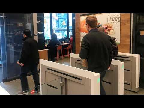 News Update Amazon opens no-checkout supermarket 21/01/18