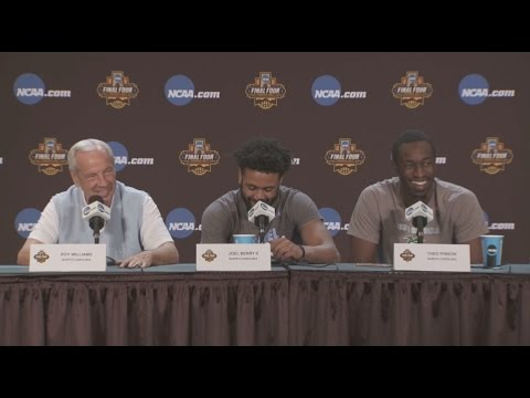 UNC Men's Basketball: Coach Williams, Joel Berry & Theo Pinson pre-National Championship PC
