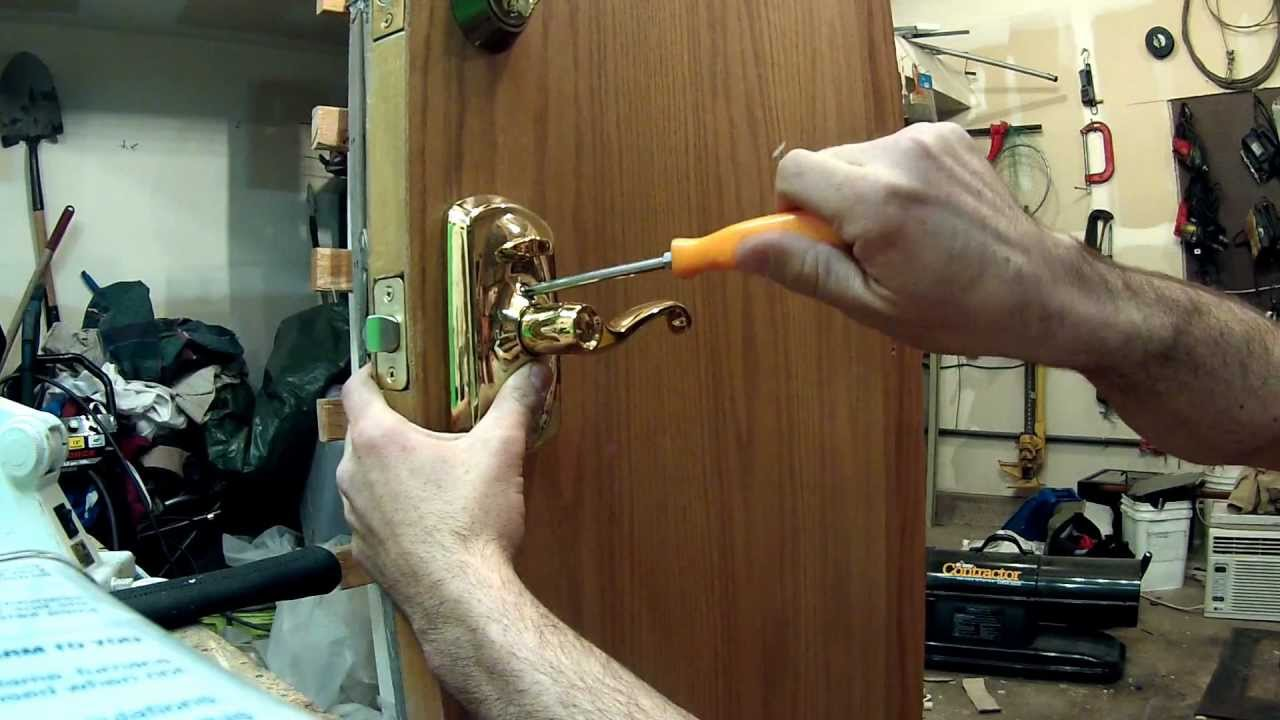How To Install A Electronic Keypad Lock Schlage Youtube