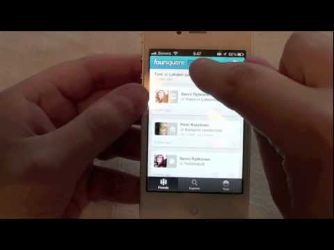 Foursquare update 5.0 Hands on video