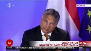 Orbán Viktor nemzetközi sajtótájékoztatója -teljes- (Brüsszel, 2015. 09. 03.)