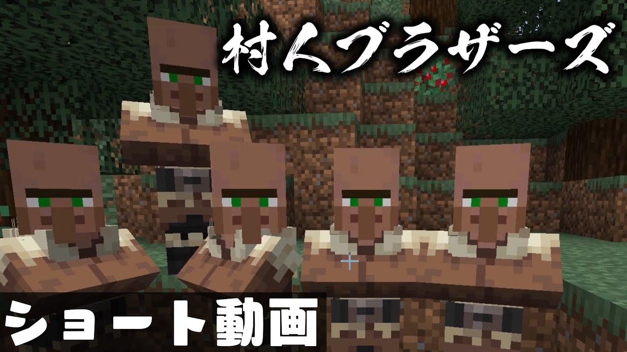 🍁【マイクラ】村人ブラザーズ【#Shorts/ゆっくり実況/マインクラフト/Minecraft】