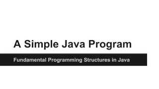 JAVA Programming Tutorials - A Simple Java Program - 04