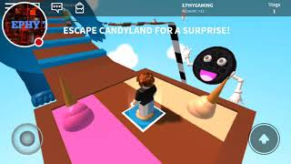 ROBLOX OBBY,S ESCAPE THE CANDYLAND#1
