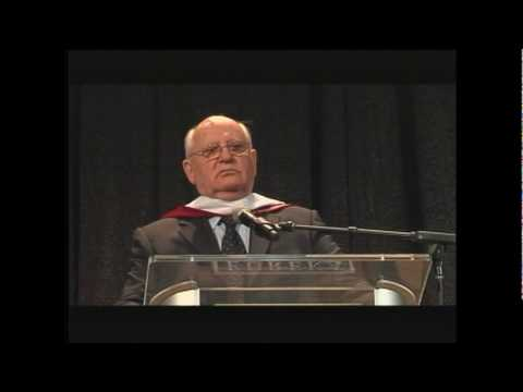 Mikhail Gorbachev remarks about Ronald Reagan at Eureka College on March 27, 2009