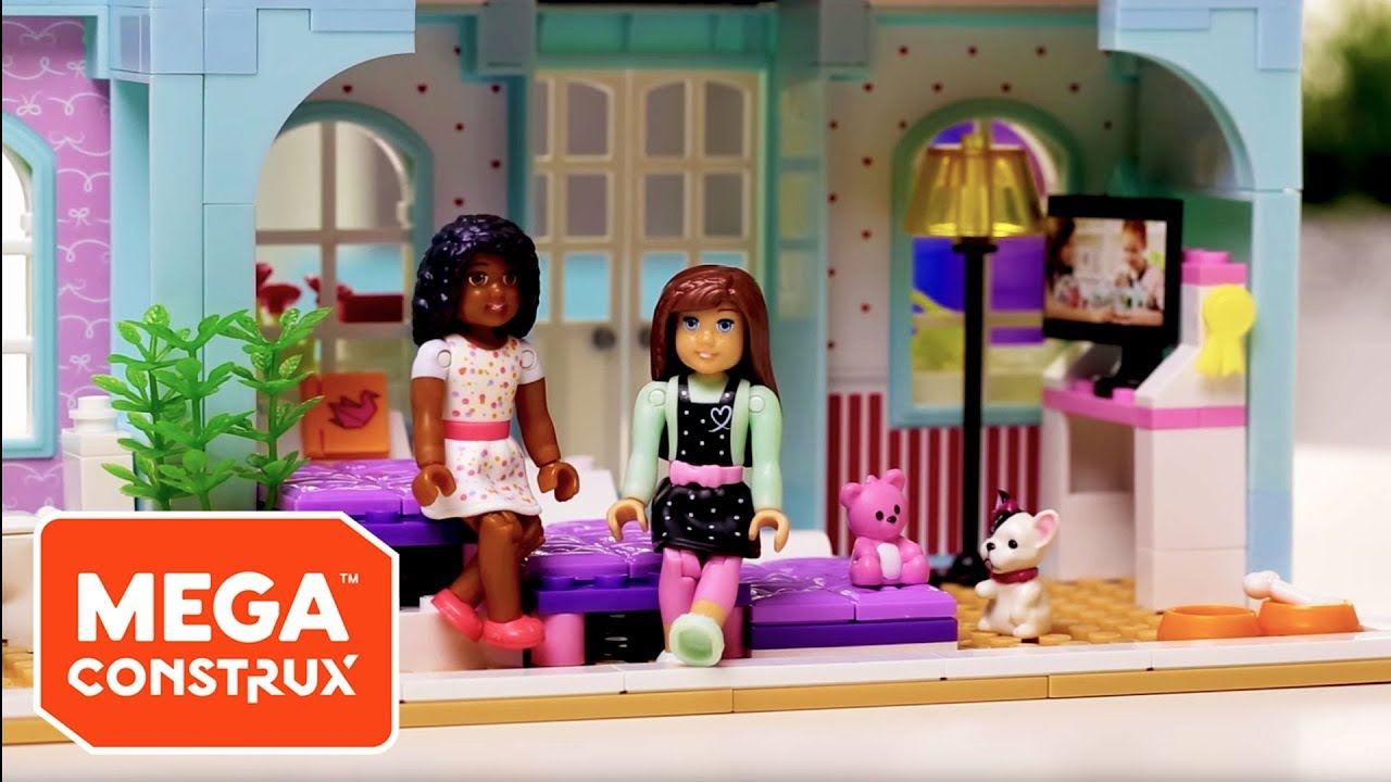 Grace\'s 2-in-1 Buildable Home | American Girl | Mega Construx - YouTube