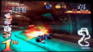 Crash Bandicoot Racing gameplay (Rus comment) part01