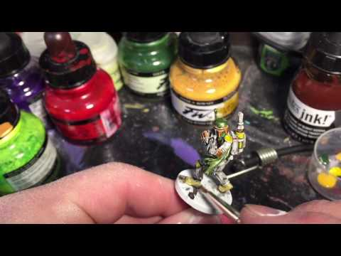 Painting Boba Fett from Star Wars: Imperial Assault with Shelby Bonding With Board Games