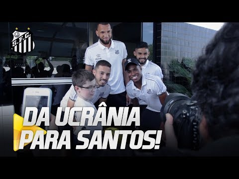 UCRANIANO DE 10 ANOS ATRAVESSA O MUNDO PARA CONHECER O SANTOS