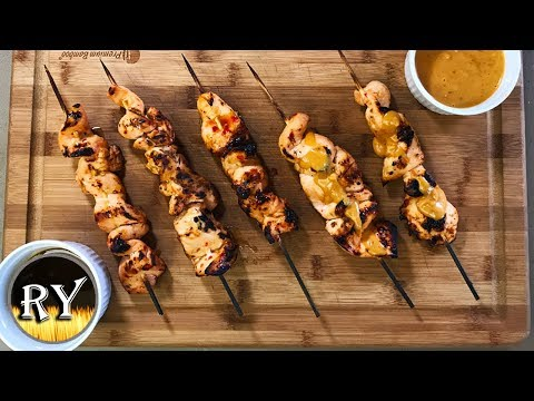 Sweet Chili Chicken Skewers Grilled On The Weber Kettle