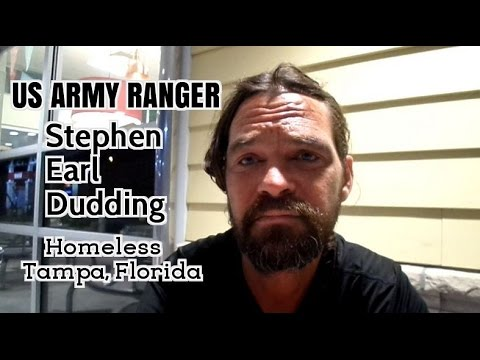Homeless US Army Ranger in Tampa, Florida